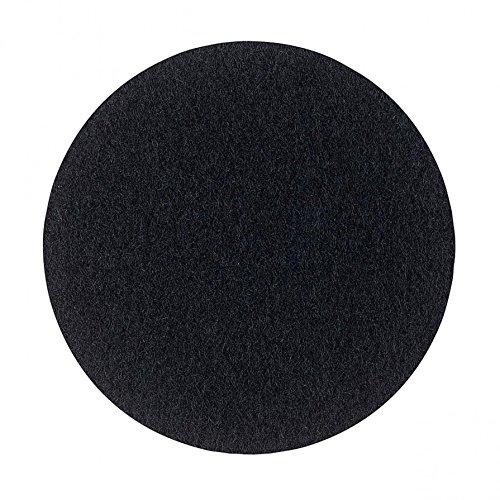 Metz Textil & Design Componibili Filzauflage ø 30,2 cm, h 0,5 cm - schwarz