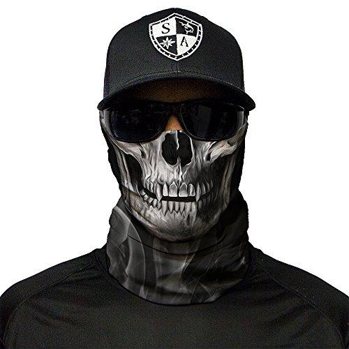 SA Fishing - hochwertiger Gesichtsschutz, Multifunktionstuch aus Stoff mit LSF 40, Schutzmaske, Krähe