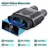 Jumelle Vision Nocturne pour Adultes, avec carte TF 32GB, zoom numérique infrarouge HD 7x, portée caméra 400M, pour chasse camping exploration navigation