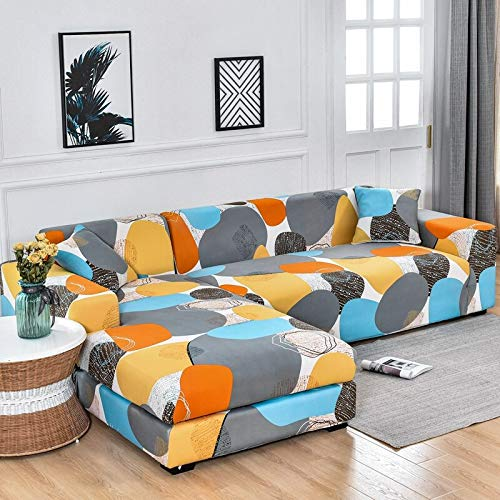 ASCV Fundas de sofá elásticas para Sala de Estar Funda de sofá elástica para sillón Funda para sofá Chaise Lounge A9 3 plazas