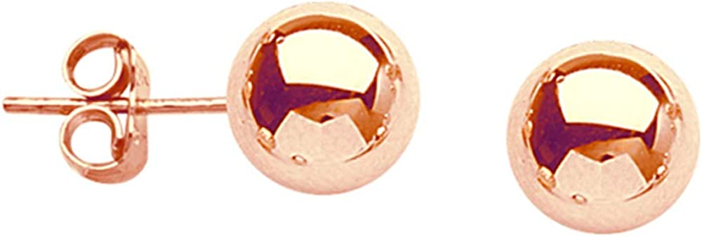 Ball Earrings, 5 mm Ball Stud Earrings