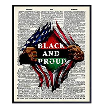 Black Pride African American Dictionary Wall Art - 8x10 Photo Poster - Patriotic Gift for Black History Month Martin Luther King Malcolm X Fans - Black Lives Matter