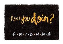Felpudo Friends - Felpudo entrada casa antideslizante 40 x 60 cm - Alfombra entrada casa exterior How you doin?, Fabricado en fibra de coco - Productos con licencia oficial