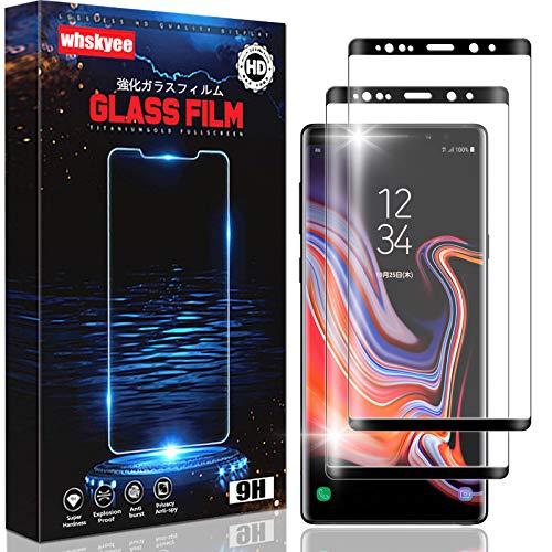【2枚セット】For Galaxy Note 9 ガラス フィルム ギャラクシーノート9 SC-01L SCV40 ガラスフィルム 硬度9H 3D曲面【日本旭硝子素材採用】液晶保護 フィルム 3D Touch対応 貼り付け簡単/指紋防止/指紋防止/飛散防止