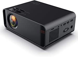 4500 Lumens 1080P Supports 200-Inch Display 50000 Hours LED, Mini Portable Projector, Compatible with HDMI, USB, VGA, TF, TV Stick, Smart Phone, Home Theater DVD