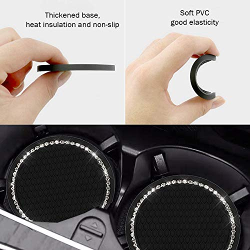 KIWEN Bling Car Cup Coaster 2PCS