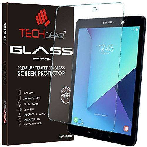 TECHGEAR Vetro Temperato Compatibile con Galaxy Tab S3 9.7 Pollici (SM-T820) - Autentica Pellicola Protecttiva in Vetro Temperato Salvaschermo per Samsung Galaxy Tab S3 9.7