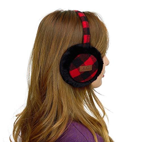 CC Exclusives Tartan Check Earmuff with Faux FurEM2380 Red/Black