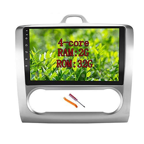 XISEDO Android 7.1 Autoradio Radio de Coche 9 Pulgadas Estéreo Navegación de Automóvil con Pantalla Táctil 1024 * 600 para Ford Focus (2006-2009) (para Aire Acondicionado Automático, Autoradio)