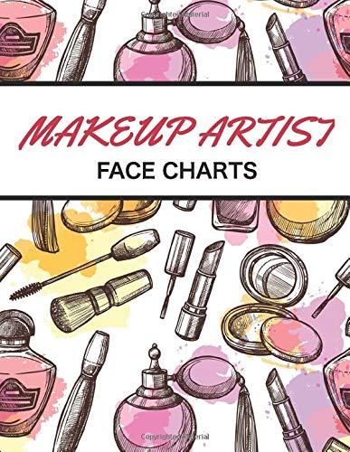 Makeup Artist Face Chart: Makeup Face Chart | 101 pages 8,5' x 11' blank workbook practice | gift for girls makeup artist