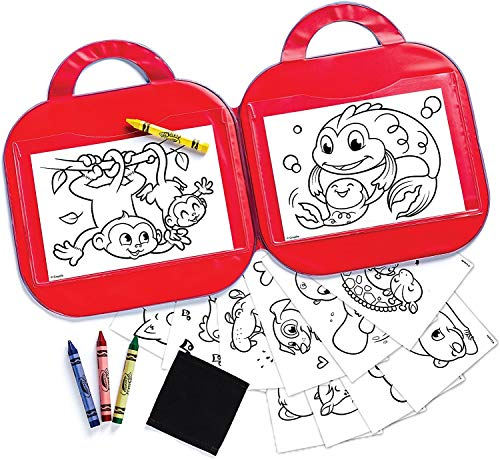 Crayola Toddler Coloring Set, Reusable Activity Mat with Washable Crayons, Gift