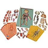 Janod Bodymagnet Educational Human Body Game - Anatomy, Organs, Skeleton, Muscles - 76 Magnetic Pieces - From 7 Years Old, 12 Languages, J05491