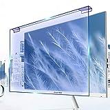 WLWLEO Desktop-Computer Displayschutzfolie Hängen Anti Blaulicht-Schirm-Schutz Fuss-Free-Installation Blau Blocking Anti-Glare Screen Filter für Computer-TV-Monitor-Schirm,27' 620 * 370mm
