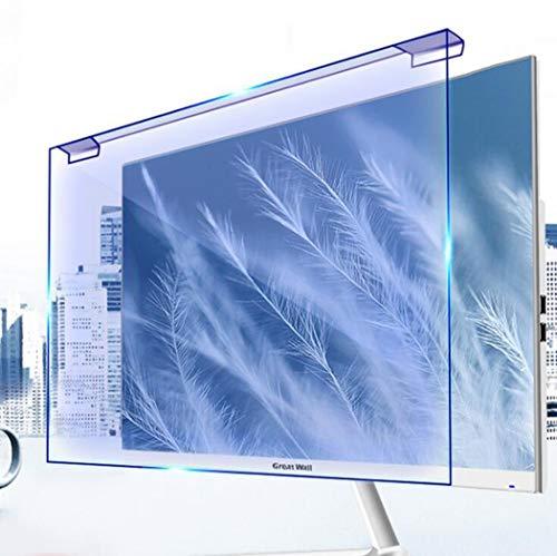 WLWLEO Desktop-Computer Displayschutzfolie Hängen Anti Blaulicht-Schirm-Schutz Fuss-Free-Installation Blau Blocking Anti-Glare Screen Filter für Computer-TV-Monitor-Schirm,23