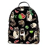Raccoon süßer flauschiger Laptop-Rucksack, stilvoller College-Rucksack, Laptop-Rucksack für...