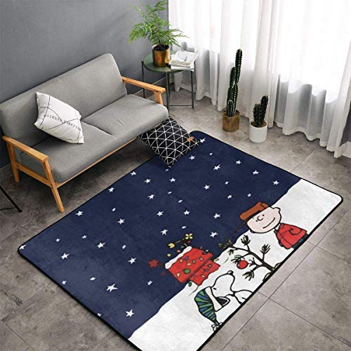 yunyang Gran alfombra antideslizante Juega con la nieve, alfombra de cómic, alfombrillas para salón, alfombrillas para suelo de 60 x 39 pulgadas
