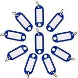 Llaveros con Etiqueta,30 Unidades Llavero con Anillo de Plástico ID Llaveros para Hotel Escuela de Oficina EquipajeHogar