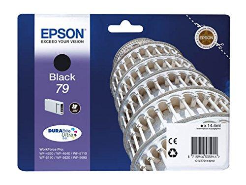 Epson original - Epson WorkForce Pro WF-4630 DWF (79 / C 13 T 79114010) - Tintenpatrone schwarz - 900 Seiten - 14,4ml