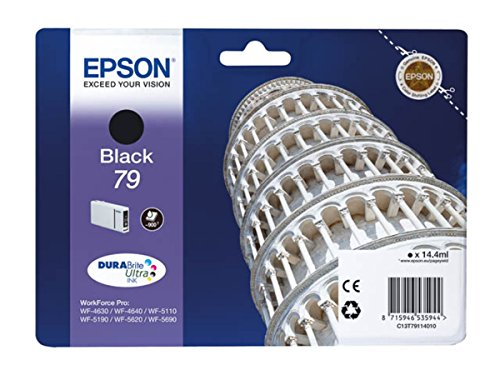 Epson WorkForce Pro WF-5620 DWF (79 / C 13 T 79114010) - original - Ink cartridge black - 900 Pages - 14,4ml