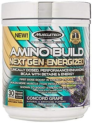 Muscletech Amino Build Next Gen Energized Concord Powder, 278 g, Grape