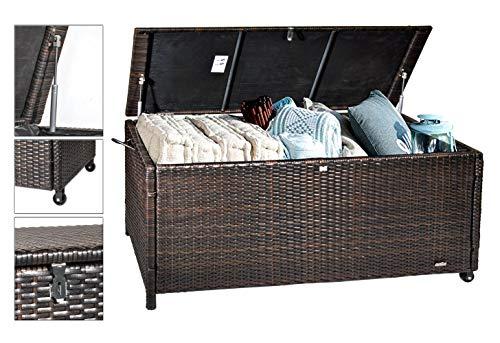 Ks Polyrattan Auflagenbox 119 x 60 x 52 cm Gartentruhe Kissenbox Gartenbox Aufbewahrungsbox Box