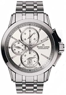 Maurice Lacroix - M. Lacroix pontos chronographe Reloj para Hombre Analógico de Cuarzo con Brazalete de Acero Inoxidable PT7548-SS002-130