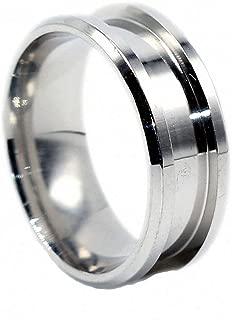 Womens Mens Ring 8mm Handmade Metal Blank Rings DIY Jewelry Making Supplies Craft