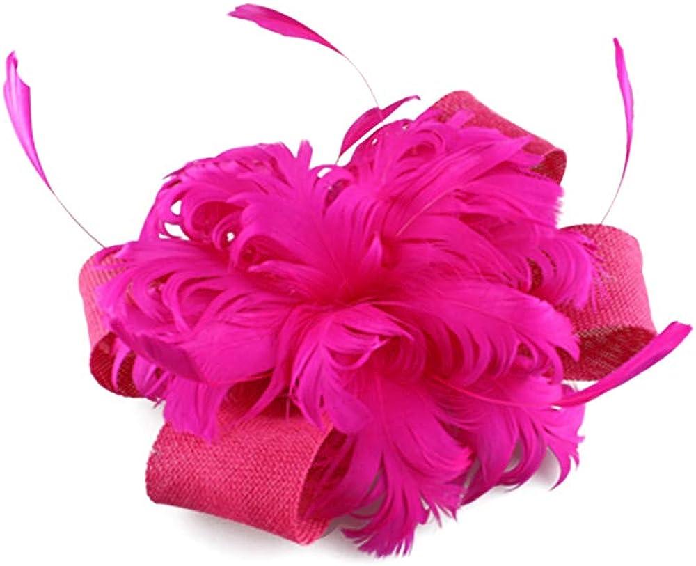 Fancy Imitation Sinamay Fascinator Hats Ivory Bridal Wedding Hats SYF218