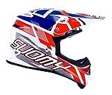 Suomy Casque Moto Cross MR Jump, Blanc/Rouge/Bleu, XL
