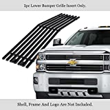 APS Compatible with 2015-2019 Chevy Silverado 2500HD 3500HD Lower Bumper Stainless Steel Black 8x6 Horizontal Billet Grille Insert C66319J