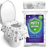 20 Pack XL Disposable Toilet Seat Covers for Kids and Adults by Eli with Love - Extra Large Full Cover Disposable Potty Seat Covers - Travel Potty Seat Covers for Toddlers and Adults… (Classic)
