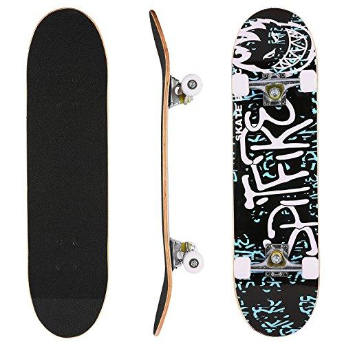 WeSkate Skateboard Komplett Board 79x20cm Holzboard ABEC-7 Kugellager 31 Zoll 7-lagigem Ahornholz, 85A Rollen für Anfänger Kinder Jugendliche und Erwachsene (Farbe 6)