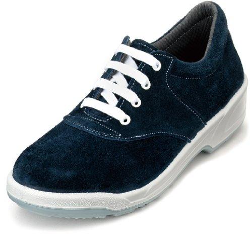 [エンゼル] スマートなデザインの女性用安全靴・ベロア紐タイプ 牛革製【安全靴】《004-ANL3011ベロア》 (22.5)