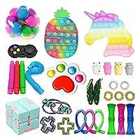 感覚指示のおもちゃセット、格安のFidget Toy Pack、Fidget Blockはストレスフィデットのおもちゃパック、子供の贈り物のための不安指示のおもちゃを和らげます (Color : Fidget Toys-10)