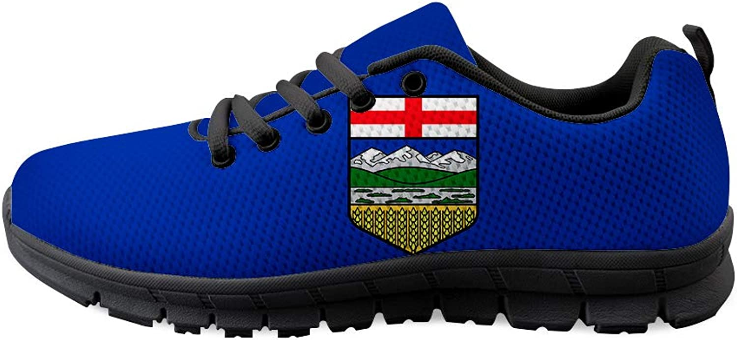 Owaheson Lace-up Sneaker Training shoes Mens Womens Alberta Flag
