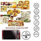 Nifogo Silikonmatte Silikon Backmatte Baking Mat mit Messungen Fondant Teig Gebäck Backmatte-60 * 40cm (Rot +Teigschneider)