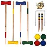 MGM- Jeux de Croquet Bois, 049059, 73 cm