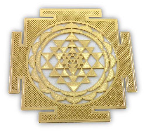 Shree Yantra 18K Gold Plated 4 Healing Grid