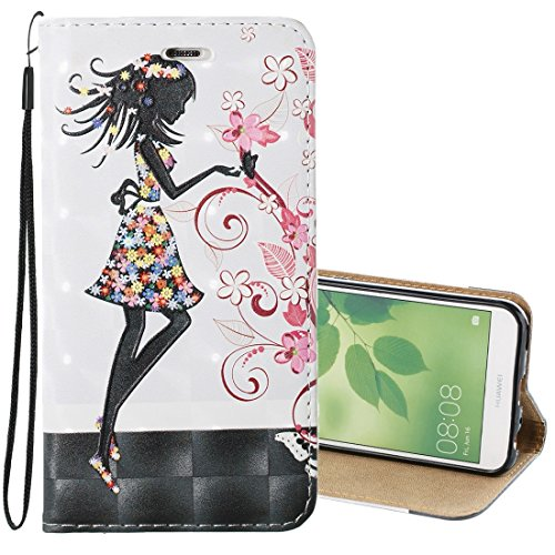 Funda móvil de moda Huawei Nova 2 Relieve 3D Flor de Mariposas patrón de Hadas adsorción...