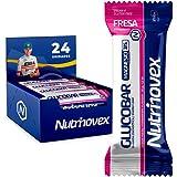 Nutrinovex Barritas Energéticas Glucobar de Magnesio con alto aporte energético y textura de gominolas a base de pulpa de fruta, vitaminas y minerales ideales para ciclismo (24 barritas x 35g)