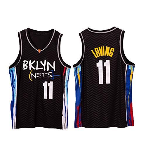 YPKL Kyrie Irving Jersey, Jerseys de Baloncesto de Brooklyn Nets de los Hombres, 11# Malla Jersey Sport Chaleco Superior Camiseta sin Mangas, Jersey Juvenil Swingman Jer XL