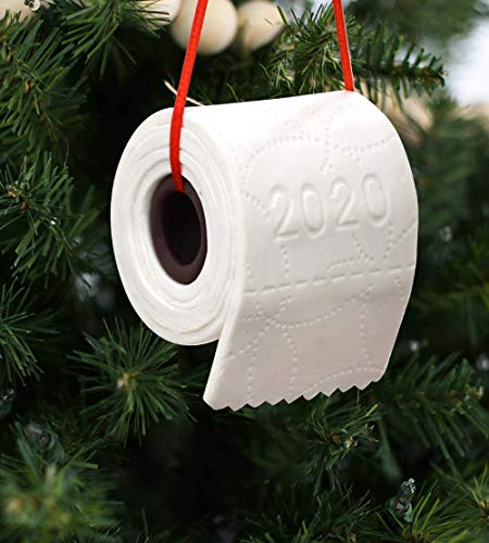 YUESUO 2020 Christmas Ornaments for Christmas Trees Funny Christmas Ornaments 2020 White Christmas Ornaments 2020