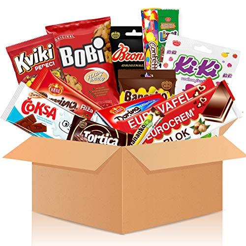 HappyLOL® Süßigkeiten Box aus Kroatien | Kennenlernbox mit 13 beliebten Süßigkeiten | Geschenkidee für Weihnachten und Geburtstage | Schokolade, Kekse, Bonbons Süßigkeiten aus aller Welt | Candy Box