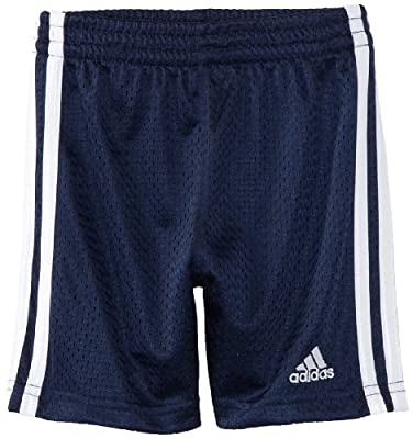adidas Little Boys' Active Mesh Short, Navy, 4