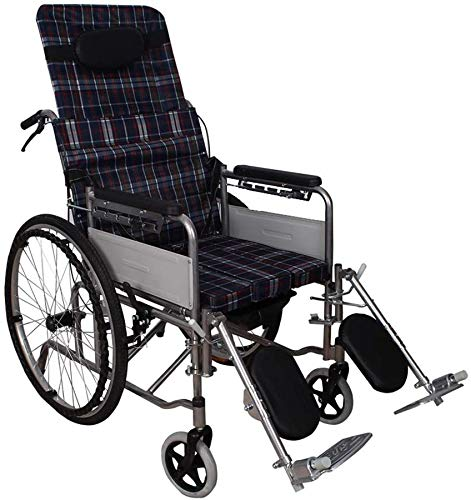 Selbstfahrende Rollstühle mit vollständig liegendem und faltbarem Design für Erwachsene, geeignet für die Unterstützung im Außen- und Innenbereich für 160 kg