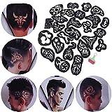 25 UNIDS/PAQUETE Set de moldes para el cabello Conjunto temporal para el cabello Plantilla para tatuaje de cabello Suministros de corte de cabello para el peinado del cabello Herramienta