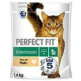 Perfect Fit Pienso Natural para Gatos Adultos Sabor Salmón (4 bolsas x 1.4kg)