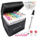 Haiyo Susu Alcohol Markers Set-80 Art Markers Touch New Markers, Marker Pens Twin Tip Text Marker Graffiti Markers Set for Students Kids Manga Artist