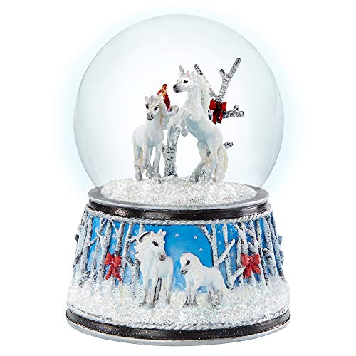Breyer Horses 2020 Holiday Collection | Musical Snow Globe - Enchanted Forest | Model #700241