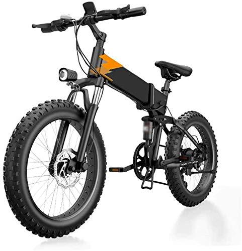 RDJM Bici electrica, 20 Pulgadas de Bicicletas eléctricas de montaña, Grasa de neumáticos de aleación de Aluminio de Bicicletas 48V de Litio Velocidad de batería 7